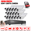AHD 16CH 1080P HDMI DVR 1200TVL IR White Outdoor HD Cameras Kits Home CCTV Security Cameras