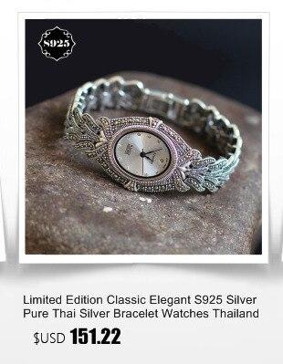 Edição limitada prata pura requintado senhora lotus