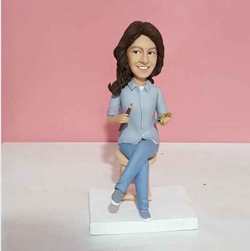 Фантазийная Персонализированная фигурка, высота 16 см, полимерная глина, сделай сам, стиль, ручная работа, реальный человек, Кастомизация, кукла, подарок подруге на день рождения