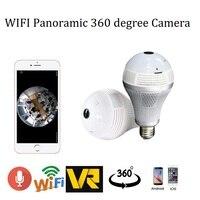 1 3MP 2 0MP Light Bulb Wireless IP 360 Degree Camera 960P 1080P Wi Fi Panoramic