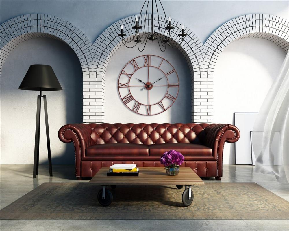 Vintage 80cm 50cm große Wanduhr Schmiedeeisen Uhr Uhr Saat Classic - Wohnkultur - Foto 3