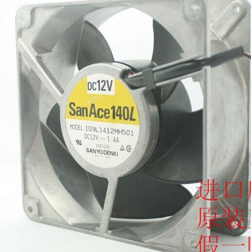 SANYO 14cm 109L1412MH501 14050 12v 1.4a  Cooling fan p 14050