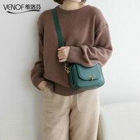 VENOF модный из кусочков кожи сумка через плечо для женщин Твердые Женская сумочка с клапаном маленькая сумка женская сумка bolsa feminina