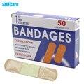 50 pcs/1 Caixa de Primeiros socorros curativo hemostático médica Band-Aid com uma compressa de gaze estéril descartável à prova d' água primeiros socorros Z13401