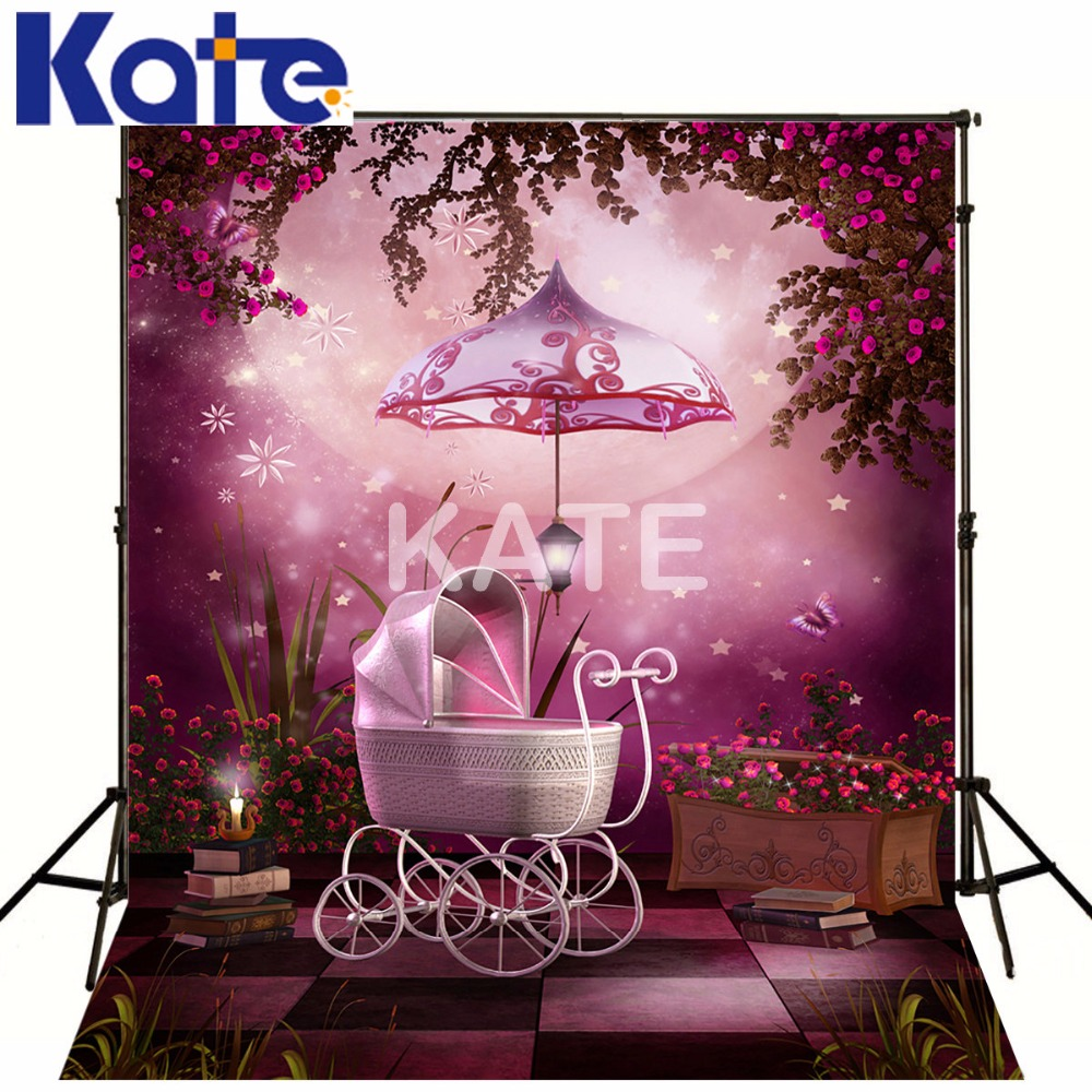 KATE Photo Background Pastel Pink Background Halloween Backdrop Fairy Tale Forest Naturism Children Photos vinyl photography background fairy tale