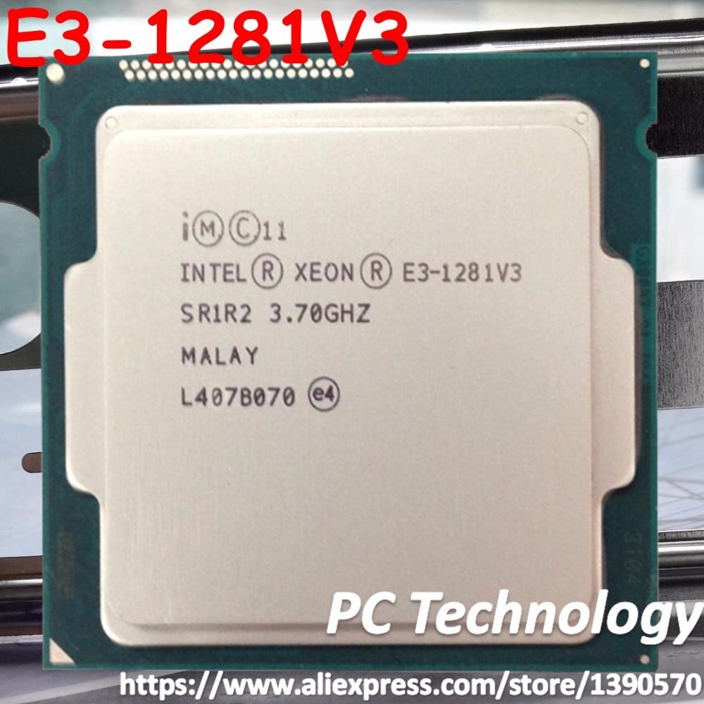 Original Intel Xeon processor E3 1281V3 CPU 3 70GHz 8M LGA1150 Quad core Desktop E3 1281