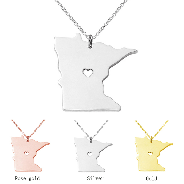 Minnesota necklace map pendant necklaces usa state pendants map minnesota necklace map pendant necklaces usa state pendants map necklace with a heart handmade jewelry aloadofball Gallery