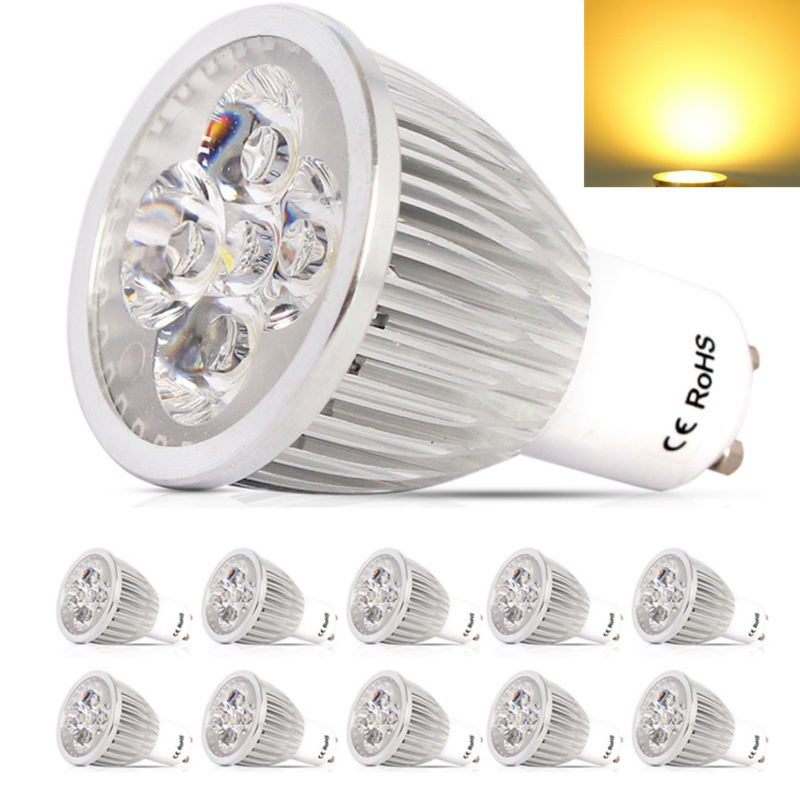 10x high power gu10 dimmable led lamp 220v 10w led spotlight bulb lamp warm cool white ceiling. Black Bedroom Furniture Sets. Home Design Ideas