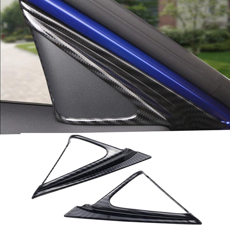Interior Accessories Car Interior Modeling Abs Carbon Fiber For Honda Accord 2018 Inner Front Door A Pillar Speakers Cover Trim Abs 2pcs Discounts Price