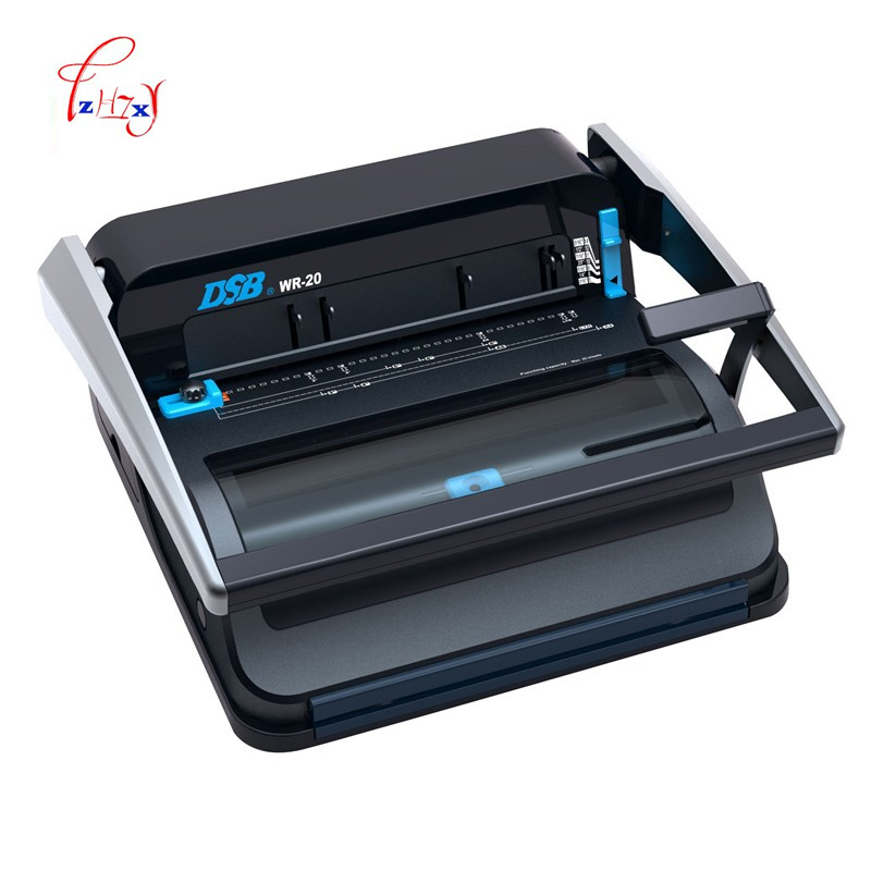 A4 Manual Wire binding machine paper book binder machine booklet maker Office & School Supplies and Household WR-20 1pc hp5016 manual a4 paper book binder comb wire binding machine paper folder binding machine