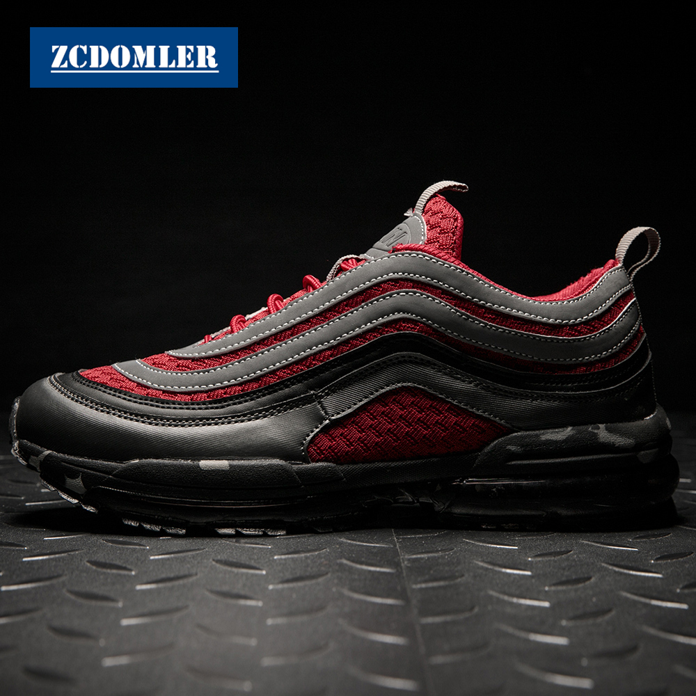 ZCDOMLER 2019 Luxury Mens Sneakers Stripe S Design Casual Shoes Chaussure Homme Breathable Mens Trainers Brand Tenis Masculino