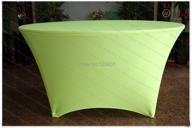 Merveilleux Neon Green Spandex Table Cover/Lycra Tablecloth/Chair Sash/Chair Covers  /Napkin