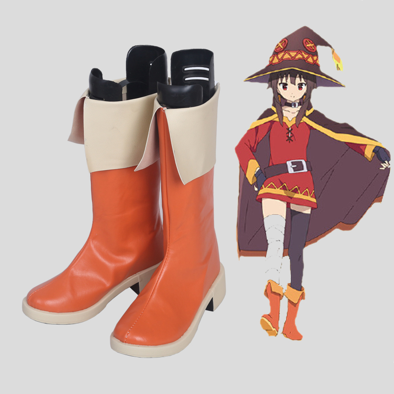 KonoSuba God s Blessing on This Wonderful World Cosplay Shoes Boots Megumin Cosplay Shoes Halloween Party