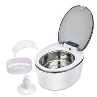 50W 600ML Stainless Steel Ultrasonic Cleaner Electronic Toothbrush Jewelry Watches Dental Cleaning Machine Tool SU 766