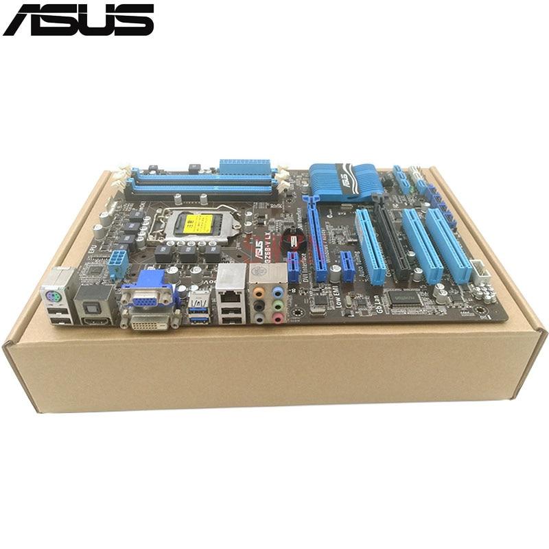original Used Desktop motherboard For ASUS P8Z68 V LX Z68 Support LGA1155 I7 I5 I3 Maximum