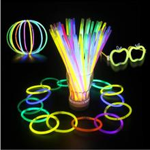 20cm Night Light Sticks Christmas Party Concert Supplies Fluorescent Bracelets Glow Sticks Wedding Party Decoration YH769 20pcs christmas party supplies colorful glow sticks