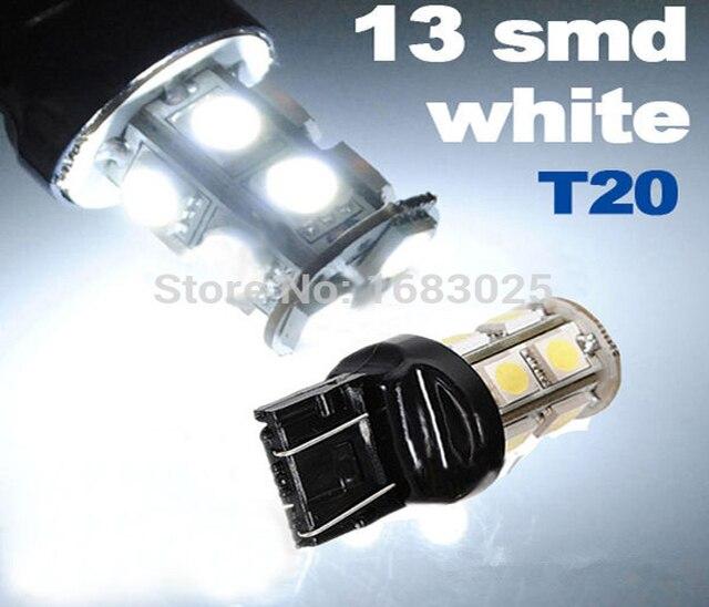 1 шт T20 W21/5 W 7443 13 SMD DC12V 5050 светодио дный чистый белый авто источник света стояночный тормоз Обратный лампа Лучшая цена
