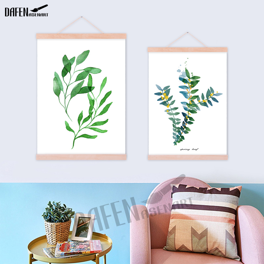 Wall Pictures Watercolor Tropical Plant Leaf Canvas New Painting Printed  Poster Nordic Green Plants Hanger Posters Office Decor