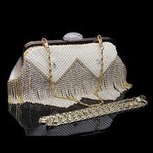 ONEFULL new fashion evening handbag handmade clutch chain brand lady night club party