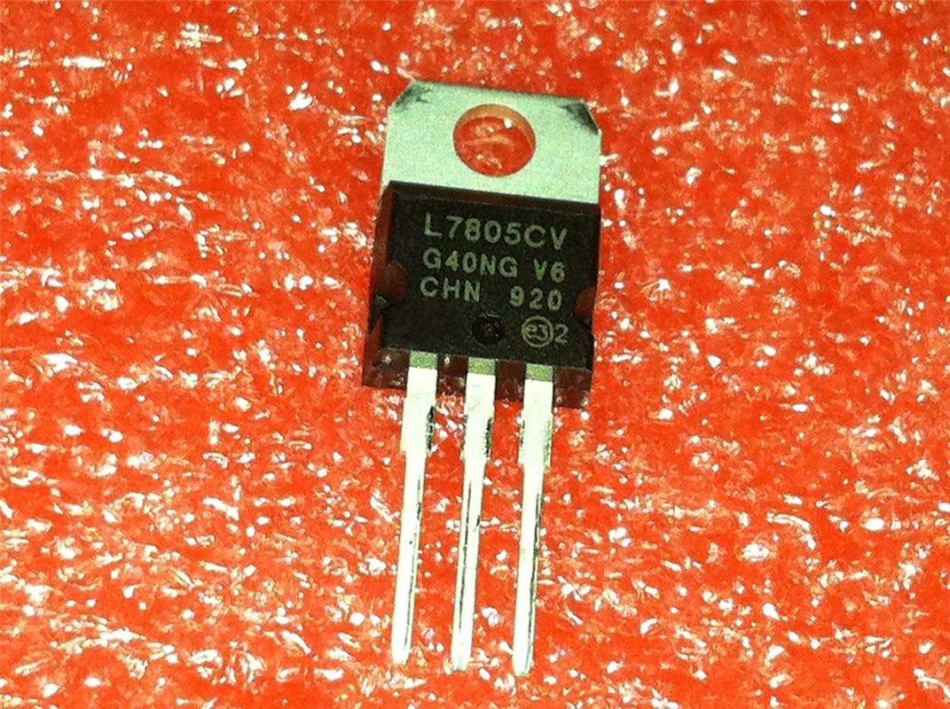 10pcs/lot L7805CV L7805 7805 LM7805 KA7805 Voltage Regulator 5V TO-220 In  Stock