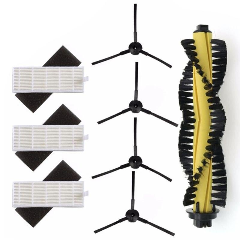 1xMain Brush+3xHEPA Filter+3xSponge+4xSide Brushes For Machine Vacuum Cleaner Parts Polaris Chuwi Ilife A4 T4 X432 X430 X431