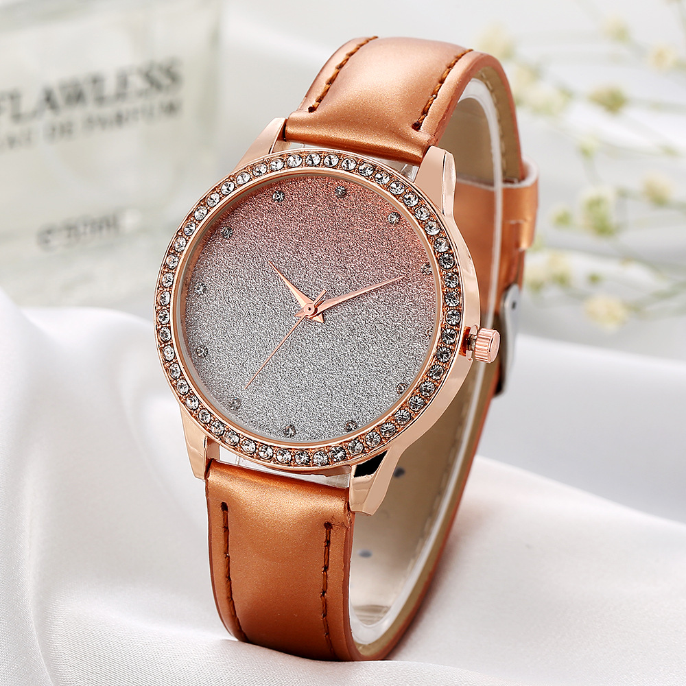 Starry Night Women Rhinestone Leather Watch Luxury Diamond Quartz Watches Ladies Colorful Wristwatch Female Reloj Mujer 2017 New putti starry night 120x60 8 предметов