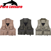 PureLeisure Outdoor Sport Men's Fishing Vest Fish Sunglasses Package Multi Pocket Fly Vest Chalecos Salvavidas L/XL/XXL/XXXL