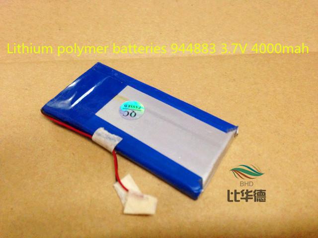 Baterías de polímero de litio 944883 3.7 V 4000 mah