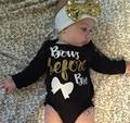 2 UNIDS ropa Romper + Diadema recién nacido mamelucos del bebé barato de china kikikids muchacha del niño del bebé de ropa infantil otoño nacido