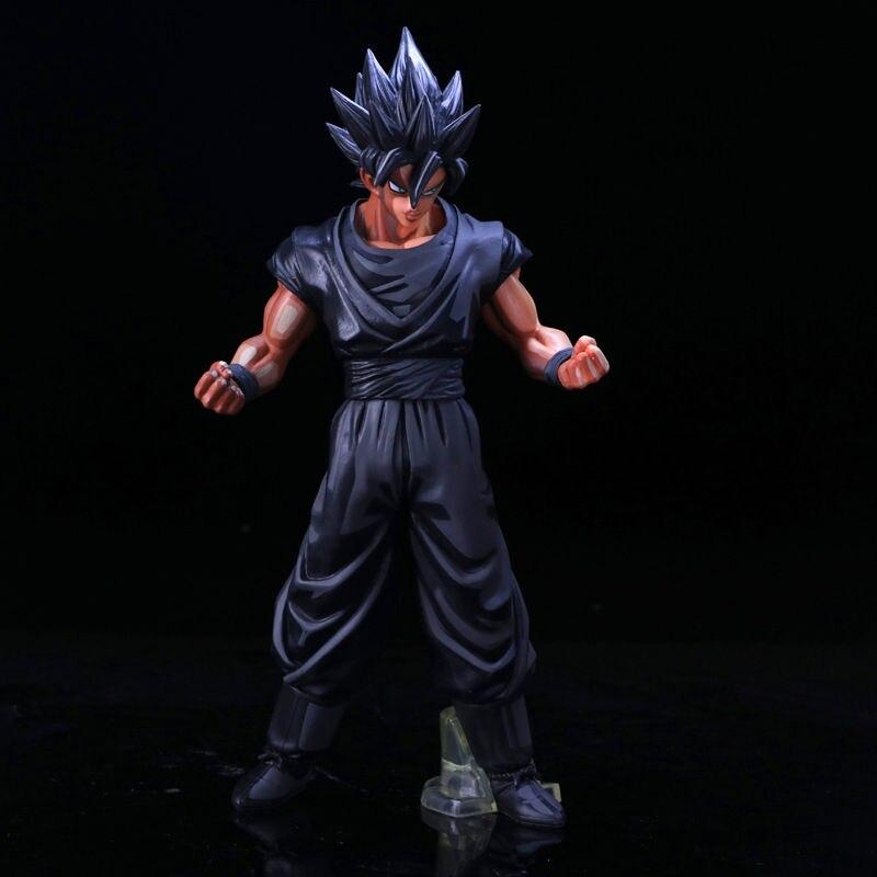 Dragon Ball Animation 30th anniversaire Super Saiyan Son Goku chocolat 28 cm PVC figurine à collectionner modèle jouet en boîte
