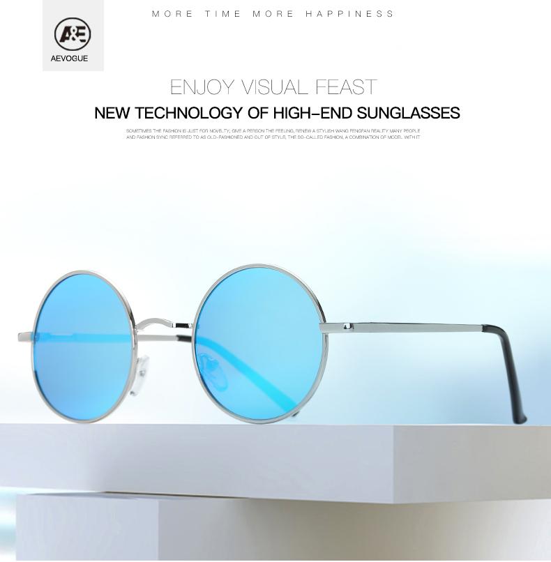 AEVOGUE Polarized Sunglasses For Men/Women نظارات شمسية للرجال وللسيدات بعدسات دائرية بلورايزد 1