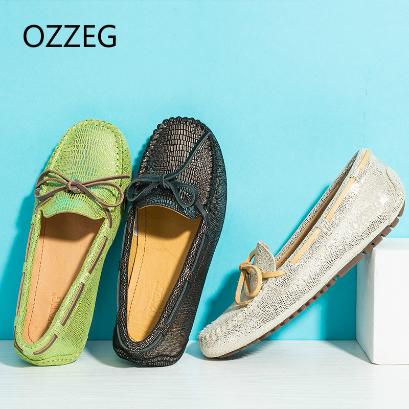 Fashion Women Genuime Leather Women Flat Shoes Loafers Slip on Boat Shoes Moccasins High Quality Hand Made Driving Shoes New men s full grain leather shoes casual crocodile driving shoes slip on boat shoes fashion moccasins for men s loafers new quality
