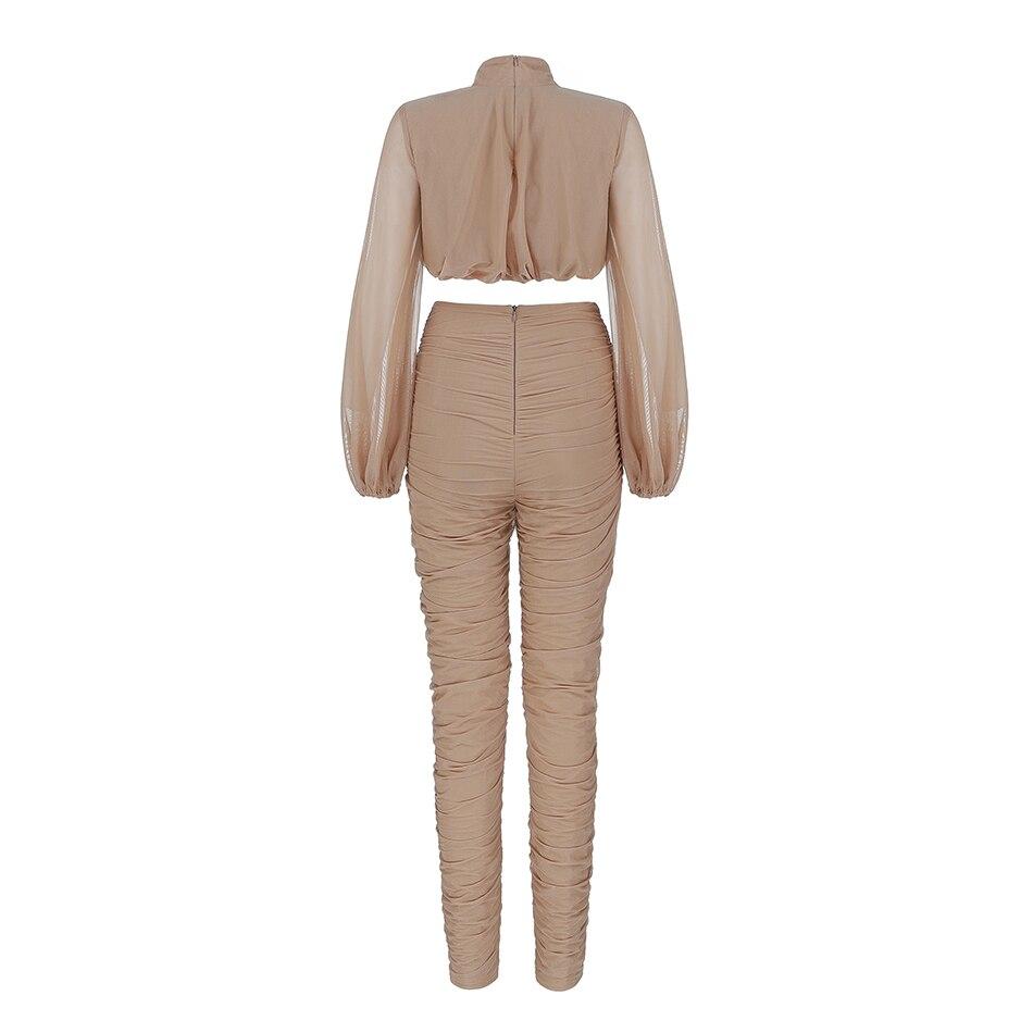 pants pleated Last long-sleeved