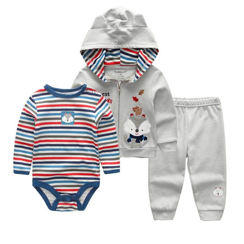 Baby Girl Clothes Set Coat Bodysuit Pants Children Cloth Suit Newborn Baby Boy Girls Clothing roupas bebes meninos kids clothes