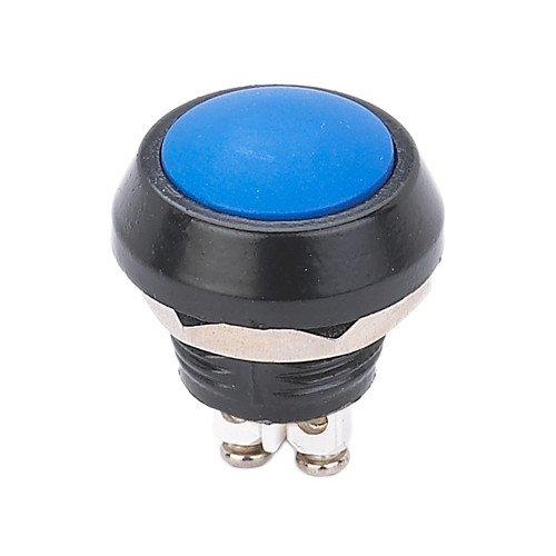 CE RoHS Plástico 12mm Momentary Normal Aberto Botão Interruptor terminal de Parafuso Cabeça Abobadada