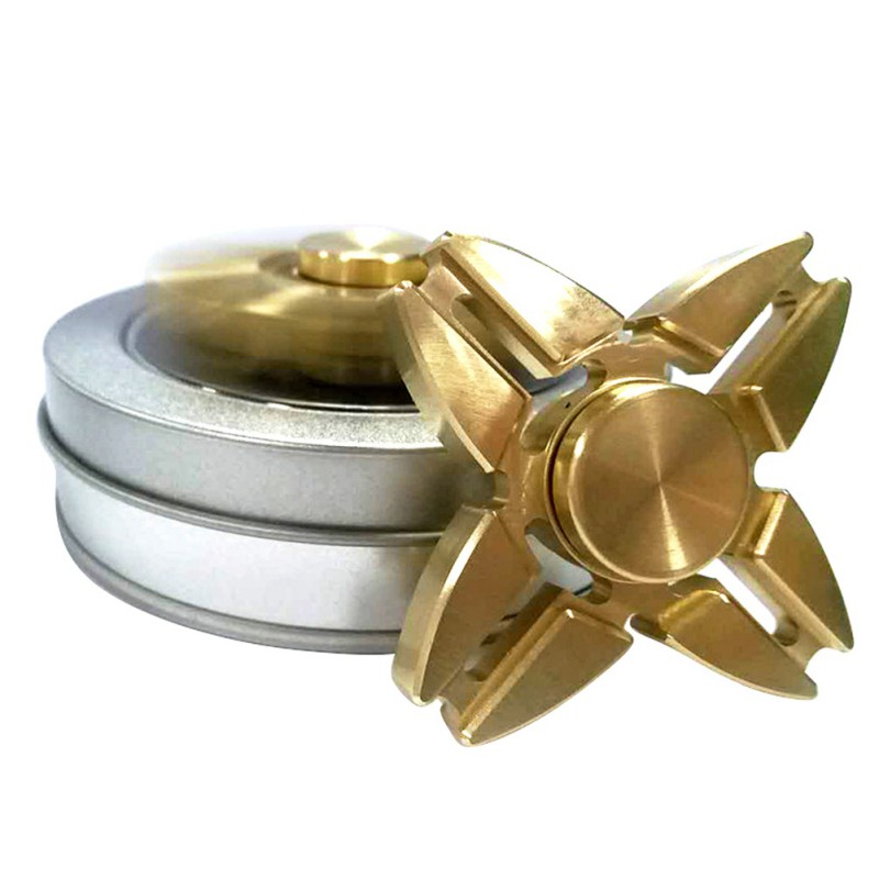 Gold Fidget Hand Spinner Finger Tri Spinner Metal Classic Fidget Spinner Relieve Stress Toys