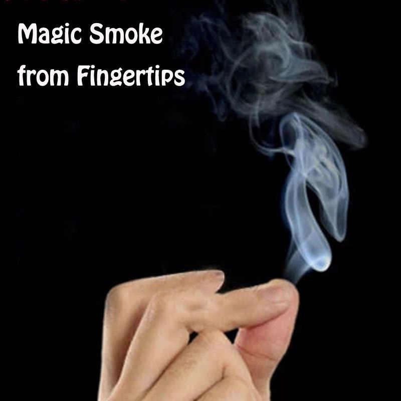 10pcs Magic Trick Smokes 서프라이즈 장난 농담 신비로운 재미 손끝에서 마법의 연기 어린이를위한 마법의 장난감 선물 성인 게임