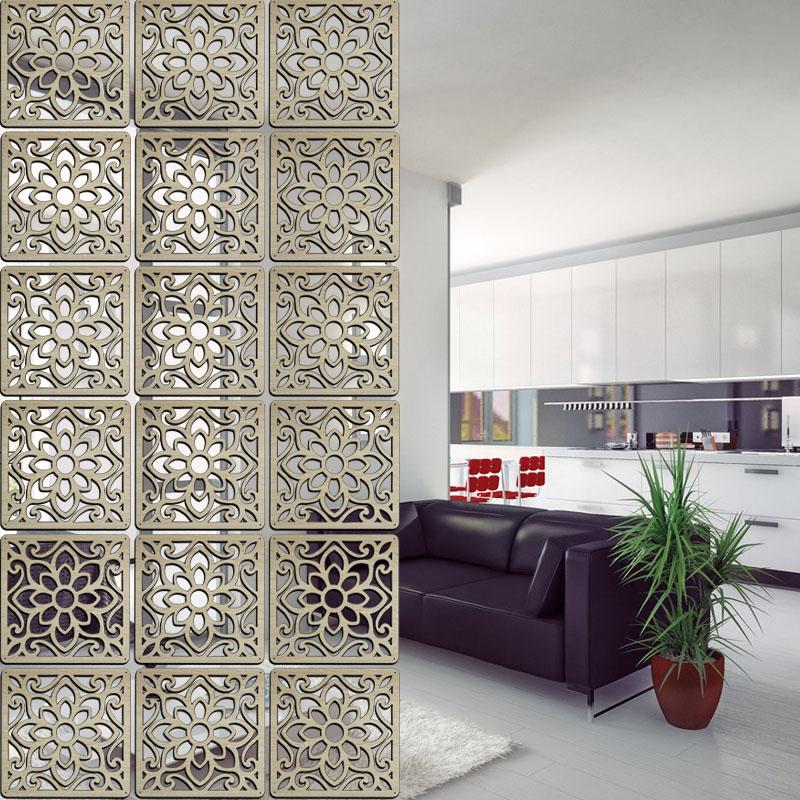 Solid Wood Modern Tiles Minimalist Living Room Parion Shield Entrance Wall Hanging Bedroom Folding Wall Panels