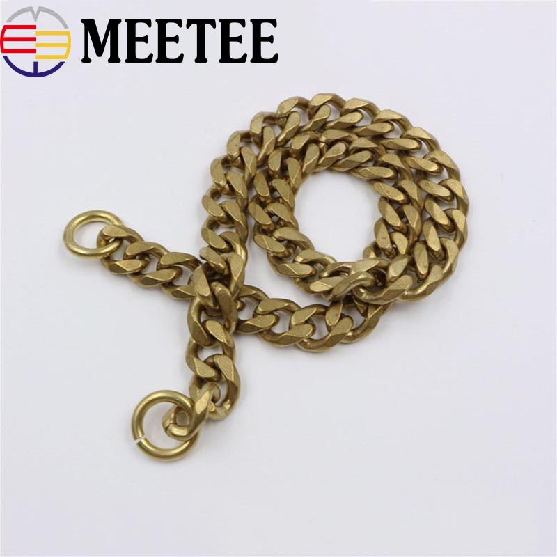 2.5*9*11mm Solid Brass Wallet Chain For Men Belt Pants Keychain Trousers Jeans Metal Buckle Clips Snap Hook DIY Accessories