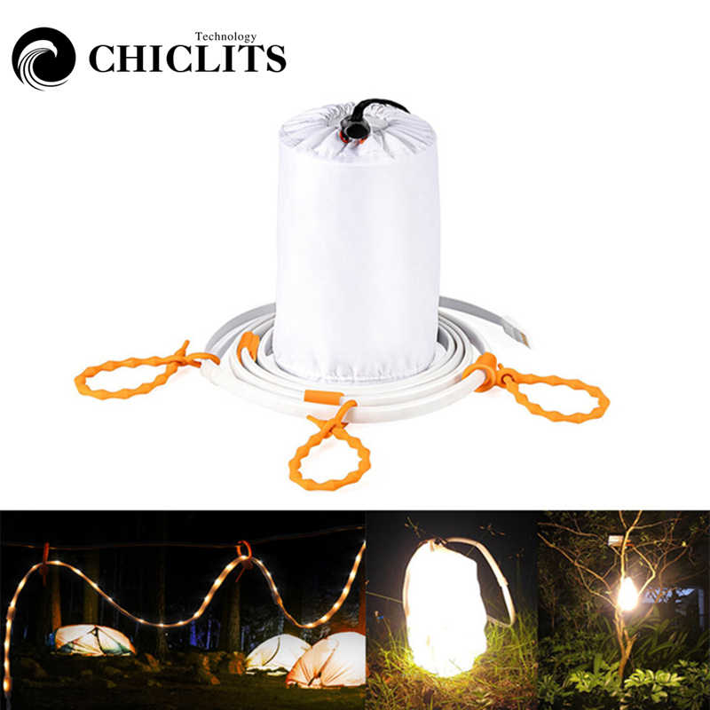 CHICLITS Outdoor LED Lamp String IP67 1.5 m 5 v USB Power Touw Licht voor Camping Wandelen Flexibele Strip Draagbare LED Lantaarn Lichten