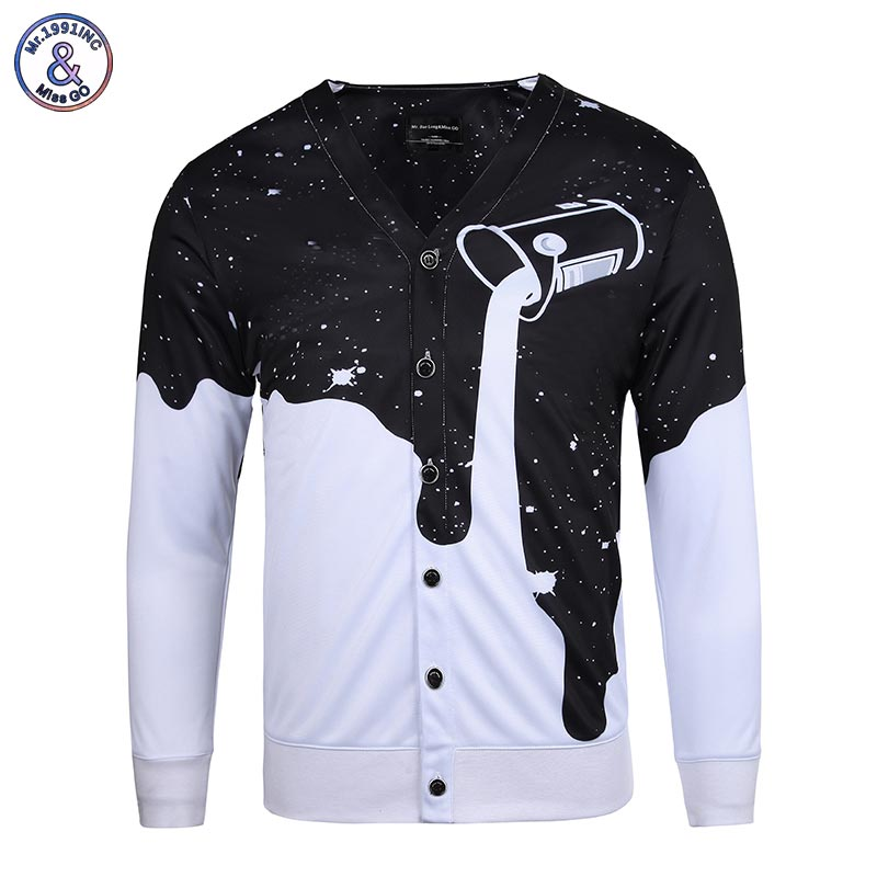 Cool hip hop shirts men long sleeve v neck for Cool long sleeve button up shirts
