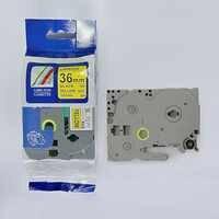 Envío gratis 3 piezas Compatible brother 36mm TZE cinta TZ-661 tze661 tz661 tze 661 negro en amarillo impresora de etiquetas p -touch