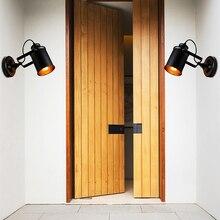 Aplique de pared Retro, lámpara de pared rústica para Loft Industrial Vintage, lámpara de porche, pasillo 110-220 V, luces de iluminación para decoración del hogar