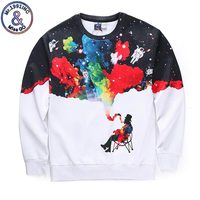 New Arrival Men Women 3d Sweatshirts Funny Print Smoking Person Colroful Smoke Space Galaxy Thin Casual