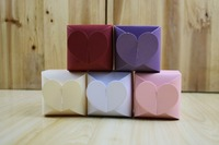 500Pcs Hot Sale Wedding Favor Gift Boxes Love Heart Shape Wedding Candy Box white/beige/purple/pink/red
