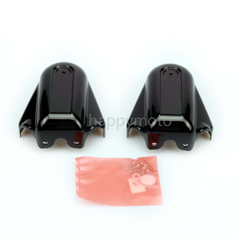 цена Motorcycle  Bar Shield Rear Axle Covers for Harley Heritage Softail Classic FLSTC Deluxe FLS