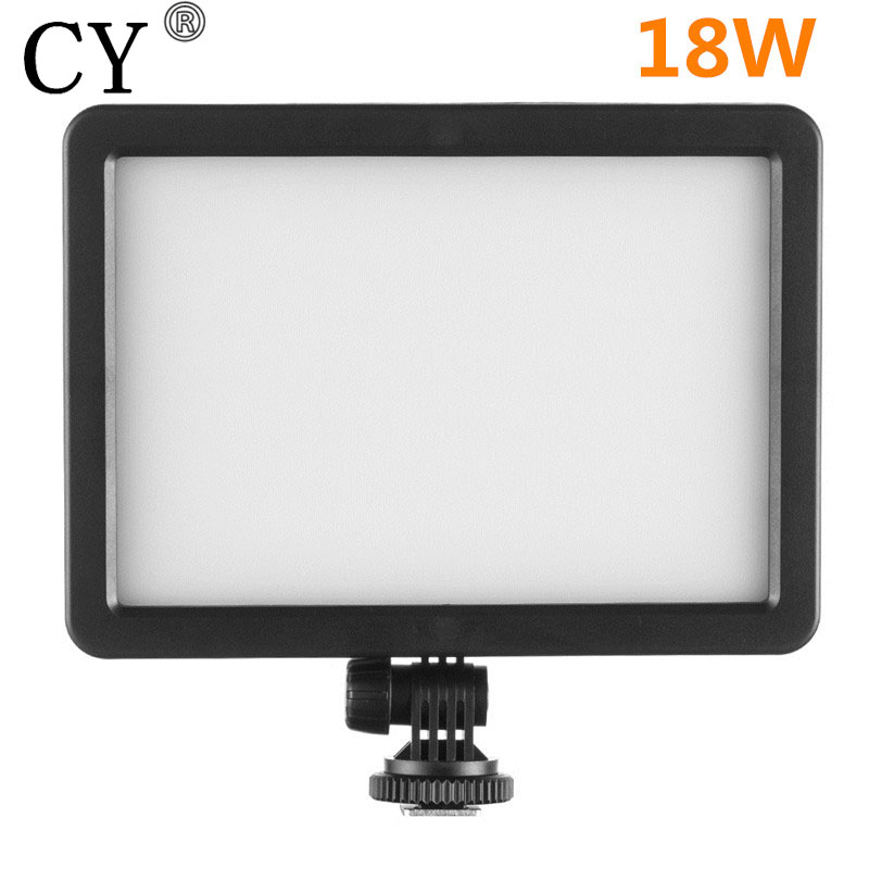 18W LED Diffuse Panel Light 5600K/3200K Dimmable Portable Continuous LED Video Film Studio Photography Light for photo advertis linkstar 18w 5600k round ultrathin soft daylight led photo video film shooting continuous portable pocket light dimmable rl 18v
