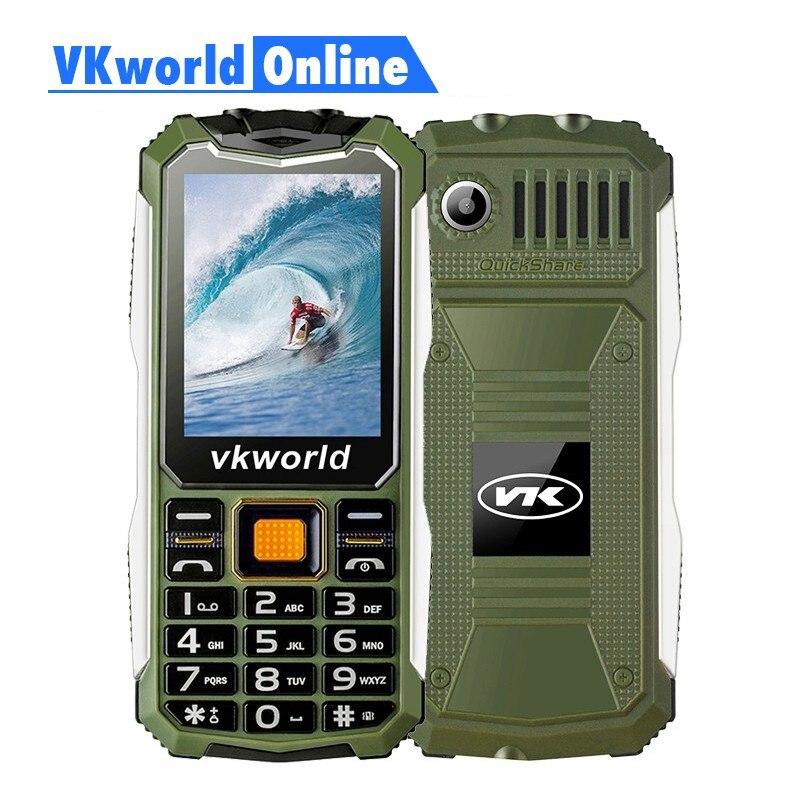 VKWorld Pierre V3S Quotidienne Étanche Mobile Téléphone 2.4 pouce Écran 2200 mAh Longue Attente Double LED Antipoussière Russe Clavier
