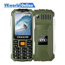 VKWorld Stone V3S Daily Waterproof Mobile Phone 2.4 inch Screen 2200mAh Long Standby Dual LED Dustproof Russian Keyboard(China)