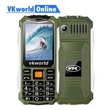 VKWorld Taş V3S Günlük Su Geçirmez Cep Telefonu 2.4 inç Ekran 2200 mAh Uzun Bekleme Çift LED Toz Geçirmez rusça klavye